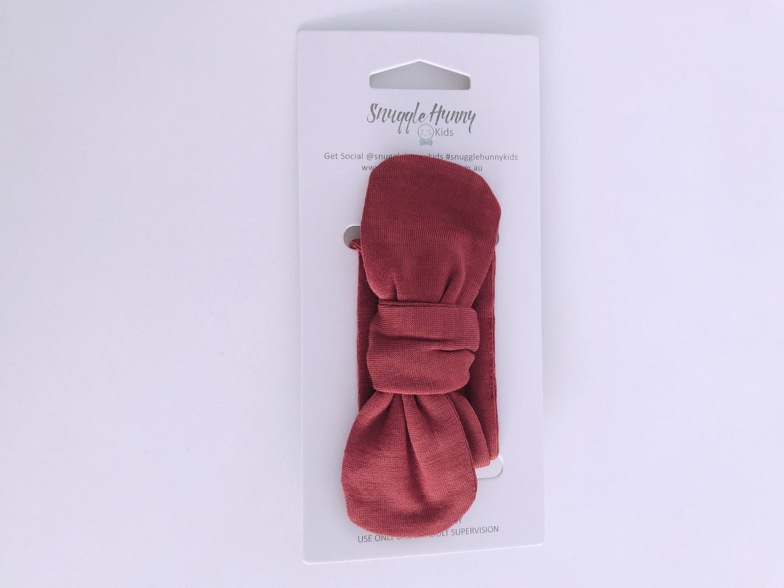 Deep Rust Topknot Headband
