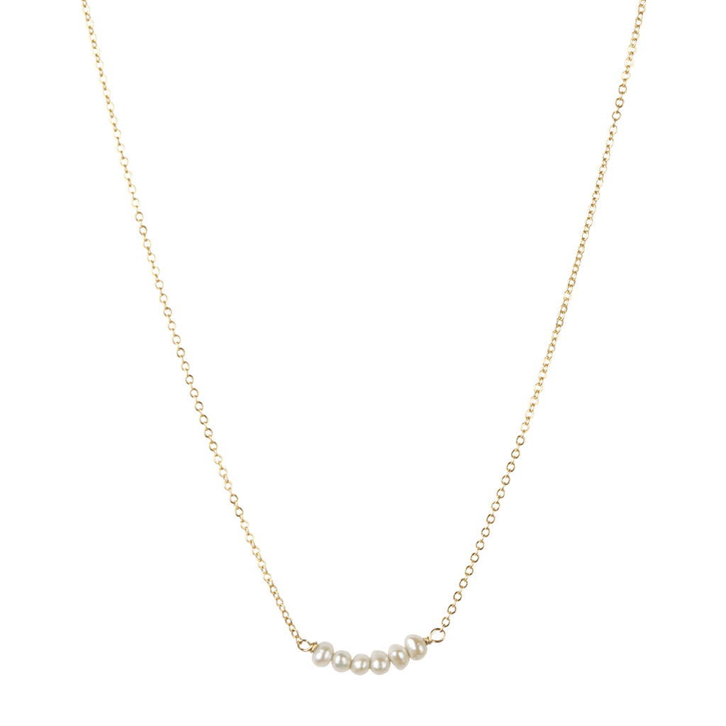 À La | Stone Bar Freshwater Pearls Necklace