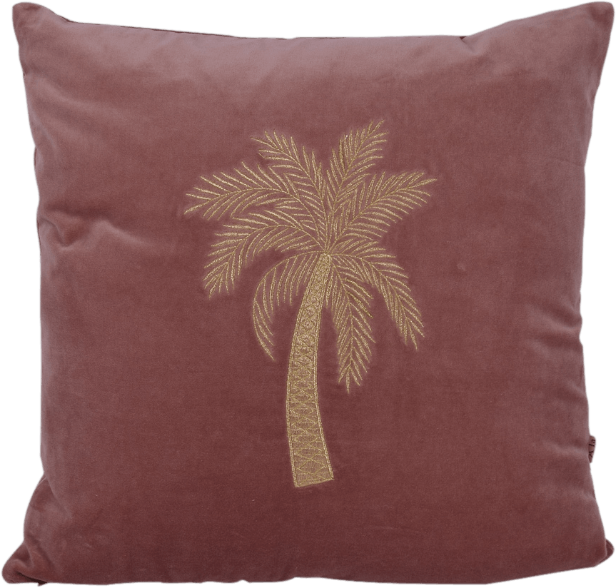À La | Velvet Cushion Palm Old Pink