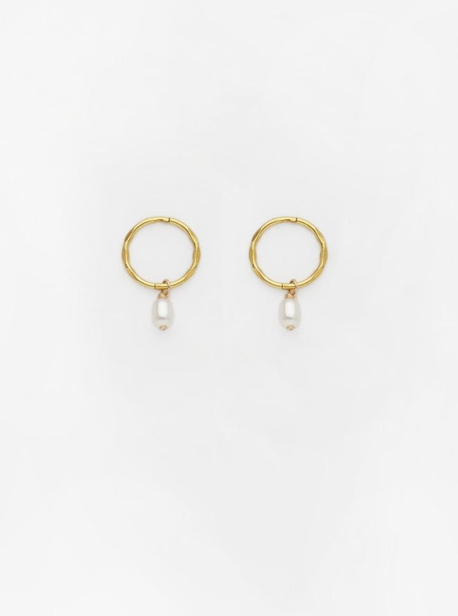 Drop Pearl Sleeper Earrings
