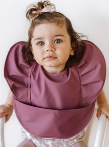 Mauve Snuggle Bib Waterproof