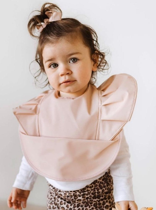 Nude Snuggle Bib Waterproof