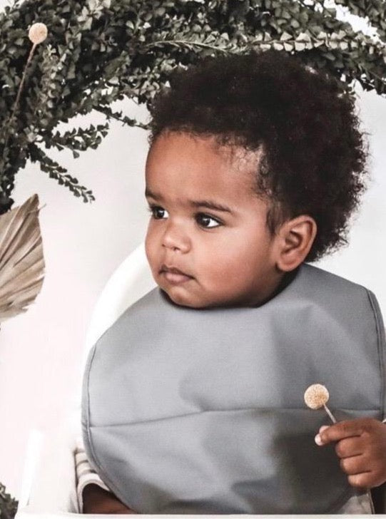 Grey Snuggle Bib Waterproof