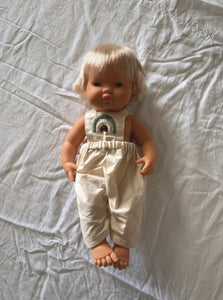 The Little Boho Rainbow | Doll Overalls