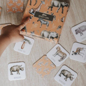 Africa Memory Card Game