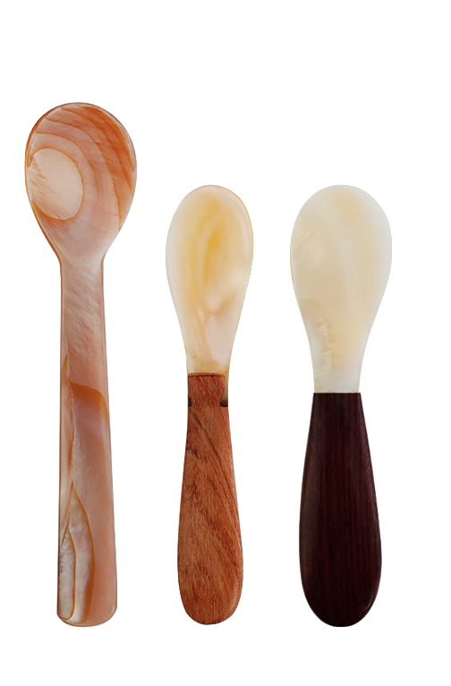 Mother of Pearl Spoon Trio