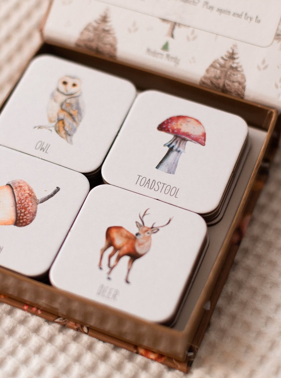 Woodland Memory Card Game