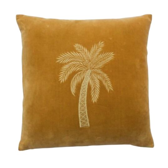 À La | Velvet Cushion Palm Gold
