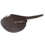 2kg Race Saddle Brown Goat Beige Piping