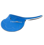 3kg Race Saddle Blue Patent Leather White Piping