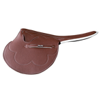3kg Race Saddle Chestnut Grippy Leather