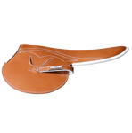 450-500g Race Saddle Tan Goat White Piping