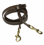 Leather Double Clip Lead
