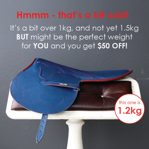 1.2kg Blue Snake Print Race Saddle