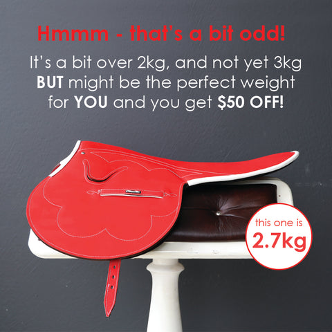 2.7kg Red Patent Leather Race Saddle
