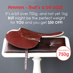 750g Burgandy Goat Leather Race Saddle