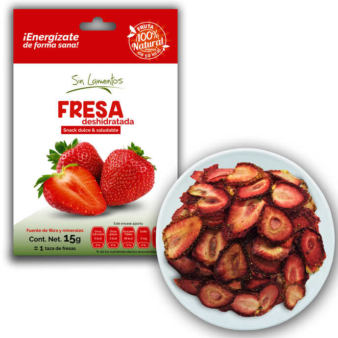Snack de Fresa Deshidratada | Dried Strawberry Snack