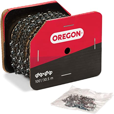 Oregon Bulk Ripping Chain 100 Feet Reel RipCut 3/8
