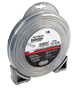 "OREGON TRIMMER LINE 22-470 GATORLINE, MAGNUM SQUARE .170"" 1LB DONUT 72'"