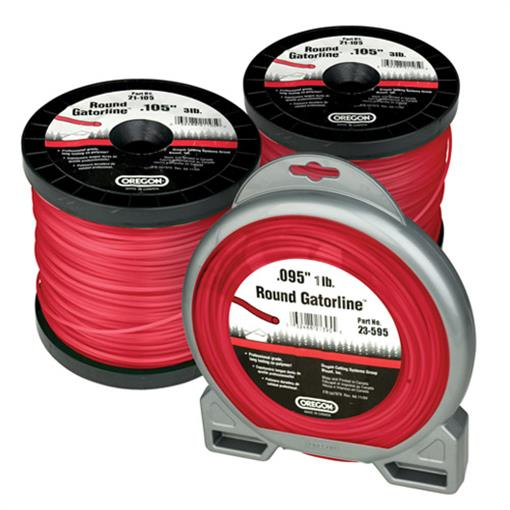 OREGON TRIMMER LINE 23-595 GATORLINE, ROUND RED .095 5LB SPOOL 1445'