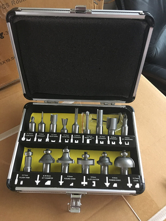 TOOLSTORM 15PC Router Bit Set 1/2