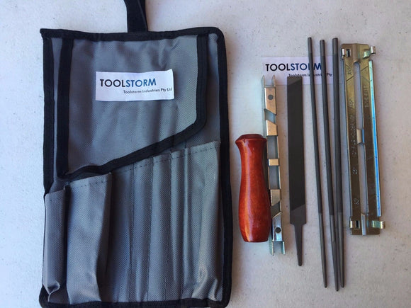 TOOLSTORM Chainsaw Chain File Guide Kit Pouch 3/16
