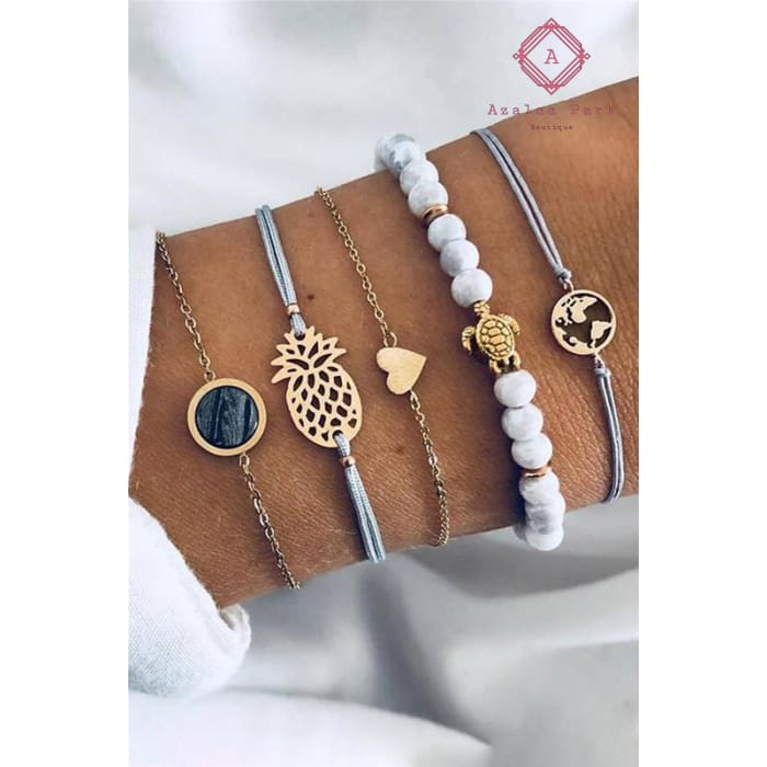 5 Piece Bracelet Set - Jewelry