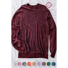 Load image into Gallery viewer, Acid Wash Hoodie - S / Burgundy - Top