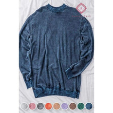 Load image into Gallery viewer, Acid Wash Hoodie - S / Navy - Top