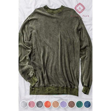 Load image into Gallery viewer, Acid Wash Hoodie - S / Olive - Top