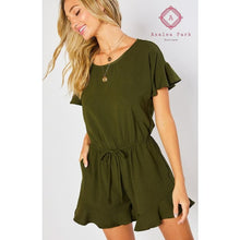 Load image into Gallery viewer, Aria's Ruffled Hem Romper - Rompers