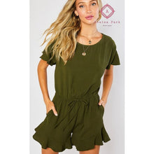 Load image into Gallery viewer, Aria's Ruffled Hem Romper - Small - Rompers