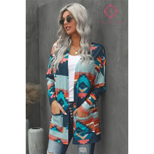 Load image into Gallery viewer, Aztec Print Cardigan - Top