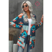 Load image into Gallery viewer, Aztec Print Cardigan - S - Top