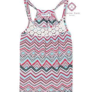 Aztec Print Tank - 7/8 - Girls Tops