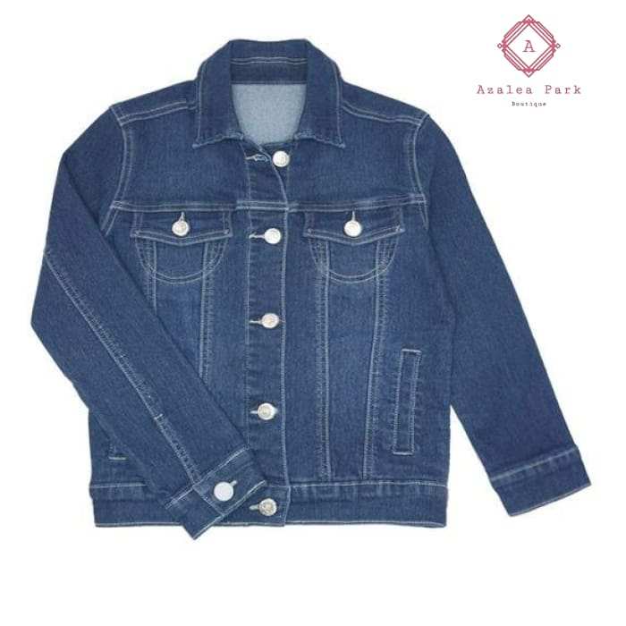 Basic Denim Jacket - 7 - Girls Tops