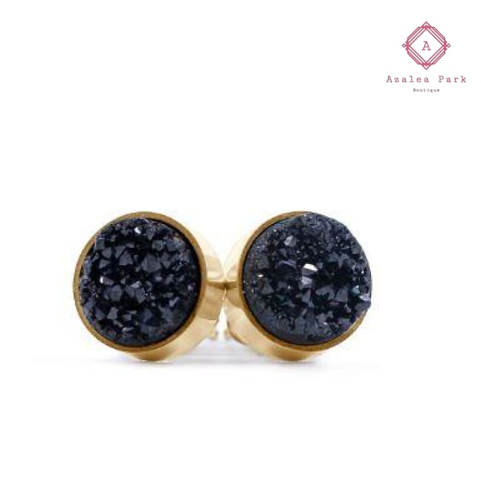 Black Ice Stud Earrings - Kinsley Armelle