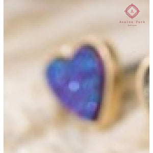 Blue Midnight Heart Earrings - Jewelry