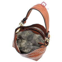 Load image into Gallery viewer, Blush Ostrich Embossed 2-in-1 Bucket Bag - Bags & Purses