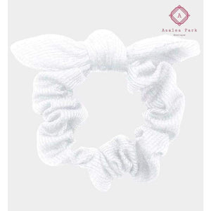 Bow Scrunchie - White - Hats & Hair Accessories