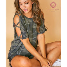 Load image into Gallery viewer, Camo Cold Shoulder - Top