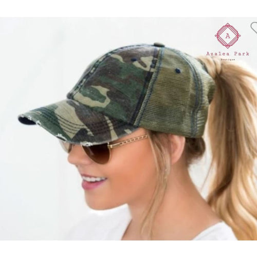 Camo Snap Closure Hat - Hats & Hair Accessories