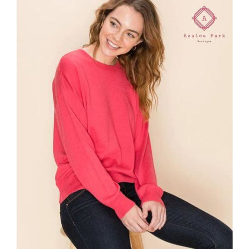 Cashmere Blend Sweater - Top