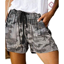 Load image into Gallery viewer, PRE-ORDER Casual Pocket Drawstring Shorts - S / Camo - Bottoms