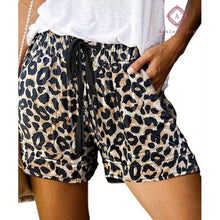 Load image into Gallery viewer, PRE-ORDER Casual Pocket Drawstring Shorts - S / Leopard - Bottoms