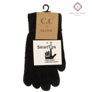CC Chenille Gloves - Black - Gloves