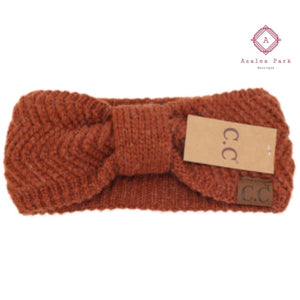 CC Chevron Knit Knot Head Wrap - Rust - Hats & Hair Accessories