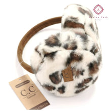 Load image into Gallery viewer, CC Leopard Print Earmuffs - Beige - Hats & Hair Accessories