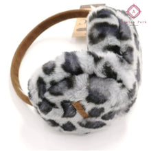Load image into Gallery viewer, CC Leopard Print Earmuffs - Grey - Hats & Hair Accessories