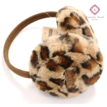 Load image into Gallery viewer, CC Leopard Print Earmuffs - Latte - Hats & Hair Accessories
